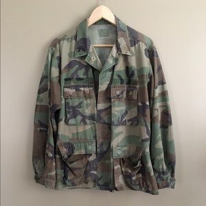 Vintage Army Camo Jacket